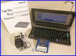 Vintage Panasonic KX-WL50 Laptop Word Processor With Manual & Power Cord