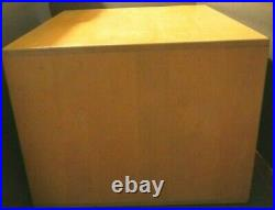 Vintage Remington Rand Maple 9-drawer Libaray Bureau Div. Card File Box/cabinet