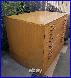 Vintage STACOR Mid Century Modern Flat File Drawer Cabinet Art, Blueprints, Maps
