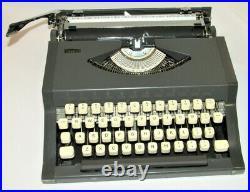 Vintage Sears Metal Manual Portable Typewriter! Nice Shape! Works! Made In Japan