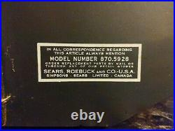 Vintage Sears Spirit Duplicator Model No. 870.5928