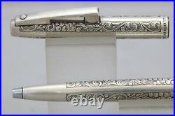 Vintage Sheaffer Imperial Sterling Silver Grapes & Leaves Ballpoint Pen