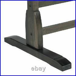 Vintage Solid Wood Drafting Table with 36 Adjustable Tilting Top, Distressed Black