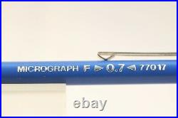 Vintage Staedtler Micrograph F 0.7 No. 77017 Mechanical Pencil with Chrome Trim