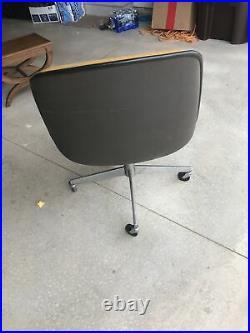 Vintage Steelcase Office Chair Bucket Seat Mid Century Modern Michigan Made USA