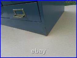 Vintage Steelmaster 30 Drawer Industrial Gray Steel Cabinet