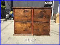 Vintage Style Genuine Wooden Filing Cabinet 4 Drawer 27x42x34