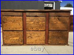Vintage Style Genuine Wooden Filing Cabinet 9 Drawer 21x30x37