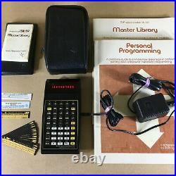 Vintage TI-59 Programmable Calculator with Master Library, Case and Accessories