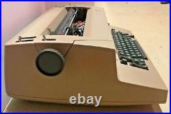 Vintage Tan Beige IBM Correcting Selectric II Working Typewriter 1970s Office