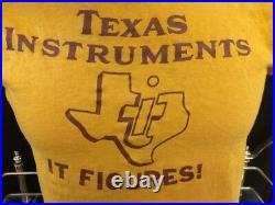 Vintage Texas Instruments Ti T-Shirt Tech Computer Thin Single Stitch