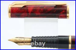 Vintage Waterman Laureat MKII Oriental Red Broad Fountain Pen, GT