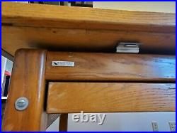 Vintage Wood Mayline Drafting Table 72 Inches Wide