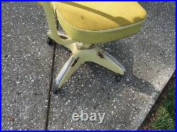 Vintage YELLOW Globe Wernicke COSCO INDUSTRIAL Shop Adjustable Rolling Chair