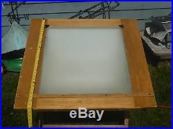 Vintage lighted drafting table