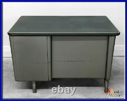 Vtg. 50s Mid Century Classic Industrial Steel Tanker Desk All-Steel-Equipment