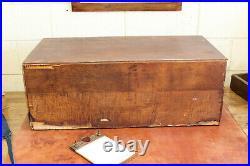 Vtg Antique Industrial Paper File Ephemera Cabinet 14 Drawer Flat File Oak 1910s