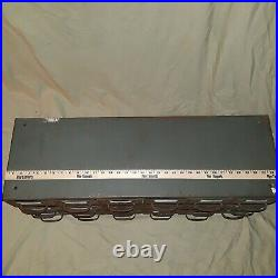 Vtg Equipto Filing Cabinet Index Card 18 Drawer Tool Storage Filing Cabinet