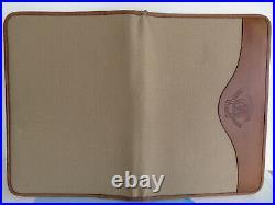 Vtg. GHURKA Marley Hodgson Canvas & Leather Pad Holder Portfolio 13.5 x 9.5