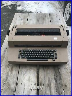 Vtg IBM Selectric II Typewriter Complete Used Untested Parts Repair 80s Rare Tan