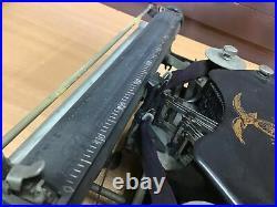 Y0532 TYPEWRITER box home office portable letter Japanese antique vintage Japan