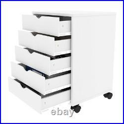 YITAHOME 5-Drawer Vertical Mobile File Cabinet Storage Organizer Locking Office